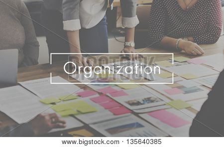 Organization Corporate Management Planning Concept