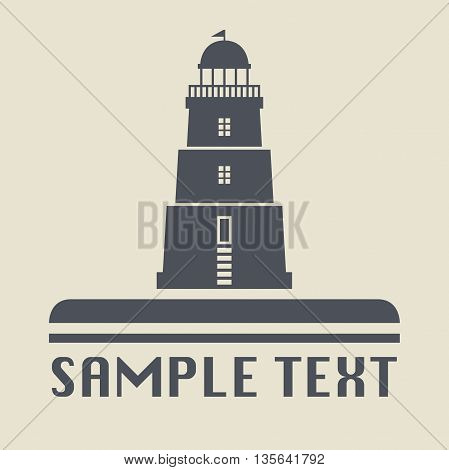 Abstract Lighthouse icon or sign, vector illustration