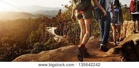 Trek Hiking Destination Experience Lifestyle Concept