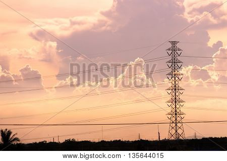 High Voltage Electric Tower