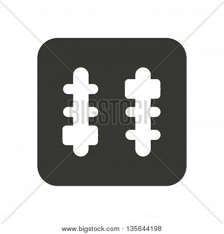 audio control panel isolated icon design, vector illustration  graphic