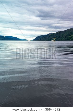 Great Britain Scotland Highlands the Loch Ness lake.