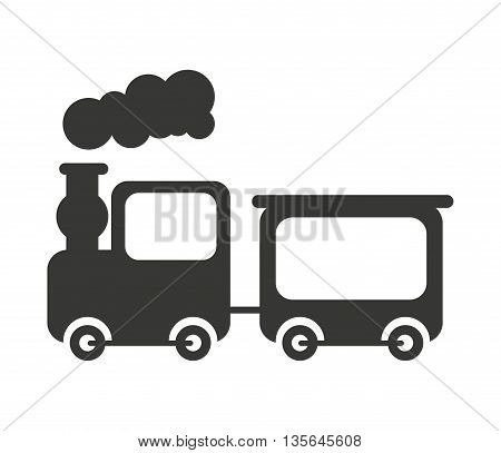 train toy isolated icon design, vector illustration  graphic