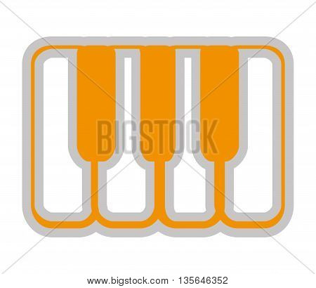Piano keyboard isolated icon design, vector illustration  graphic