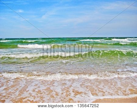 Baltic Sea, Waves At The Beach