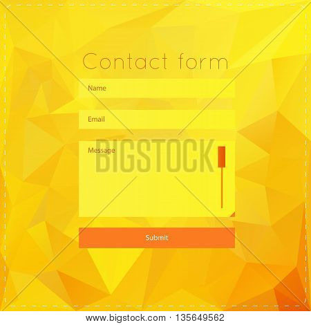 Vector template with yellow polygonal background. For ui, web games, tablets, wallpapers, and patterns.