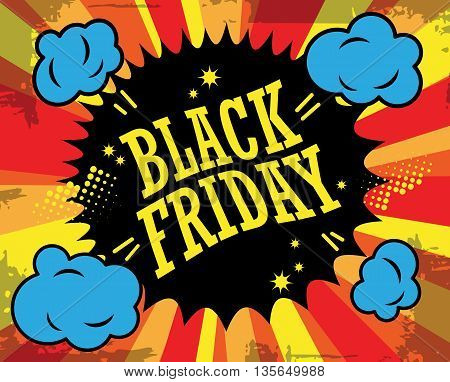 Abstract Black friday label or poster, vector illustration