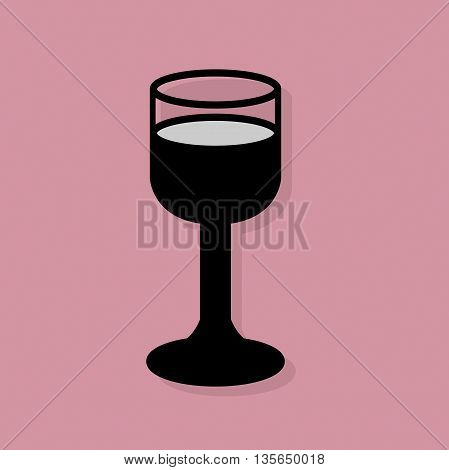 Abstract Wine glass icon or sign, vector illustration