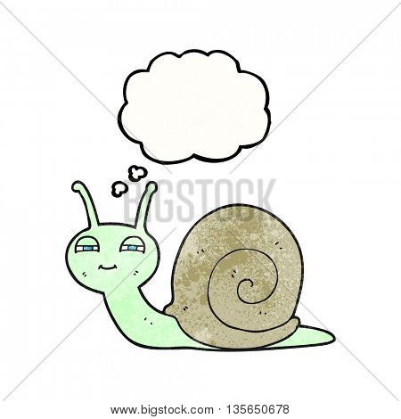 freehand drawn thought bubble textured cartoon cute snail