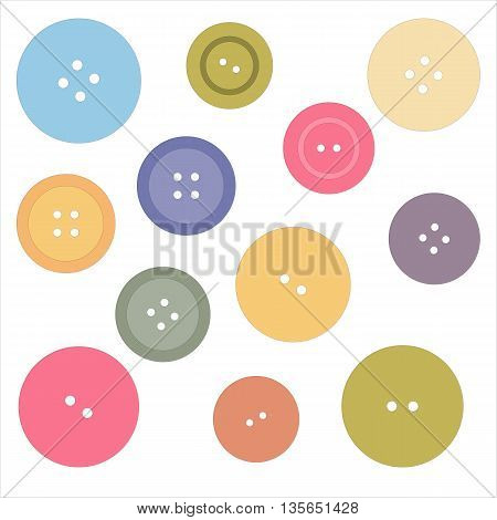 Nice picture with colored buttons. Vector background