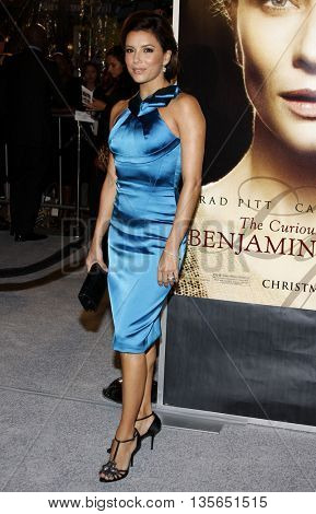 Eva Longoria at the Los Angeles premiere of 'The Curious Case of Benjamin Button' held at the Mann Village Theater in Westwood, USA on December 8, 2008.