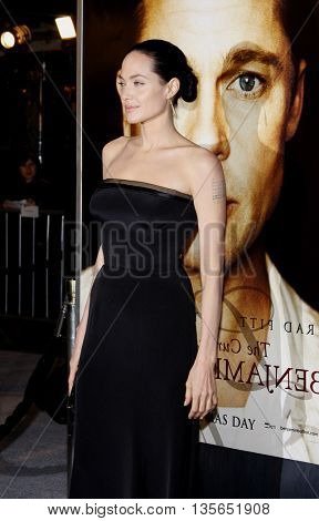 Angelina Jolie at the Los Angeles premiere of 'The Curious Case of Benjamin Button' held at the Mann Village Theater in Westwood, USA on December 8, 2008.