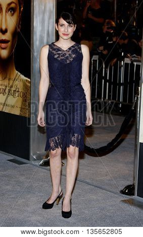 Emma Roberts at the Los Angeles premiere of 'The Curious Case of Benjamin Button' held at the Mann Village Theater in Westwood, USA on December 8, 2008.