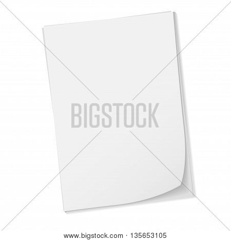 Stack of paper stamped paper isolated on a white background. vector illustration.