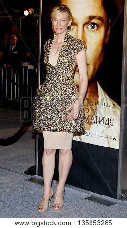 Cate Blanchett at the Los Angeles premiere of 'The Curious Case of Benjamin Button' held at the Mann Village Theater in Westwood, USA on December 8, 2008.