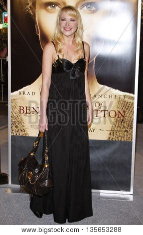 Adrienne Frantz at the Los Angeles premiere of 'The Curious Case of Benjamin Button' held at the Mann Village Theater in Westwood, USA on December 8, 2008.