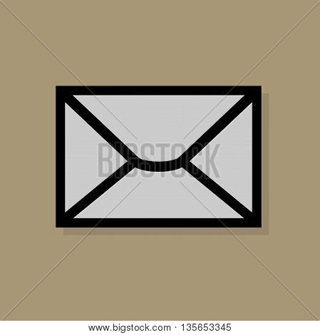 Abstract Envelope icon or sign, vector illustration