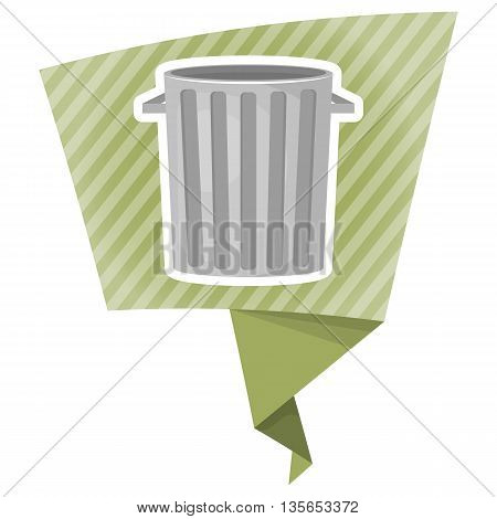 Trash Bin Colorful Icon