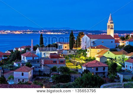 Town of Kali on Ugljan island evening view Dalmatia Croatia