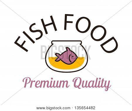 Fish vector design logo template. Seafood restaurant idea fish tank logo. Water shape abstract fish logo ocean food element graphic icon. Seafood menu, nature river animal fresh food.