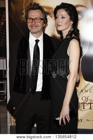 Alexandra Edenborough and Gary Oldman at the Los Angeles premiere of 'The Curious Case of Benjamin Button' held at the Mann Village Theater in Westwood, USA on December 8, 2008.
