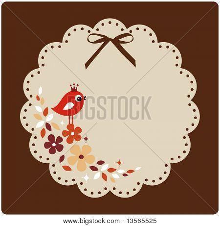 vector birds xmas card