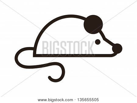 Cute mouse cartoon presenting icon. Mouse icon mascot silhouette little ear fluffy animal. Happy pest nature wildlife mouse icon. Adorable rodent pet toy graphic fun animal character.