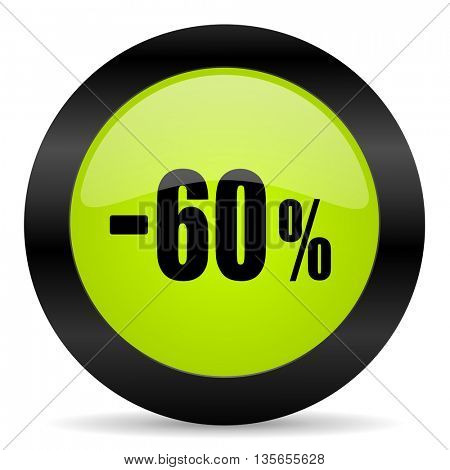 60 percent sale retail icon