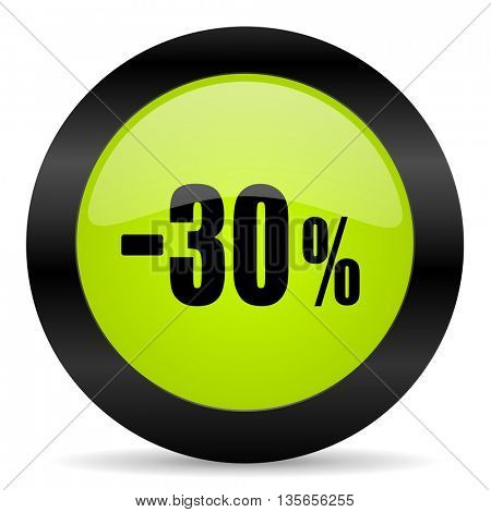30 percent sale retail icon