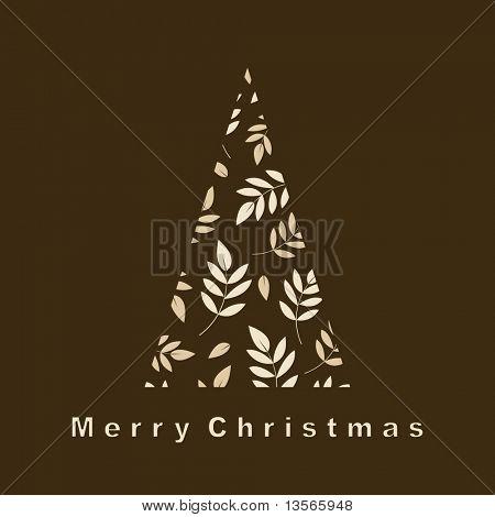 árbol del vector del diseño de fondo de Navidad
