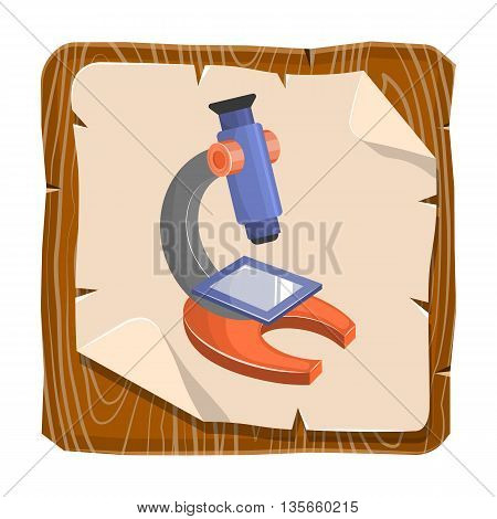 Microscope Colorful Icon