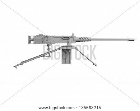 3D Military Gun