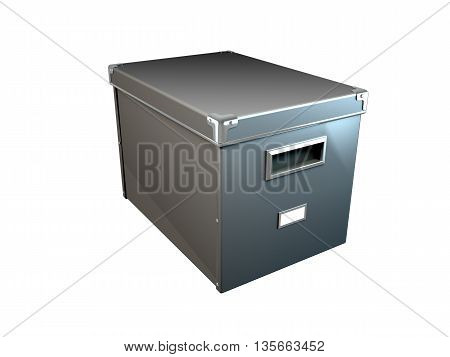 3D rendering of document boxes isolated on white background