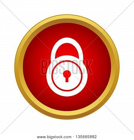Lock icon in simple style isolated on white background