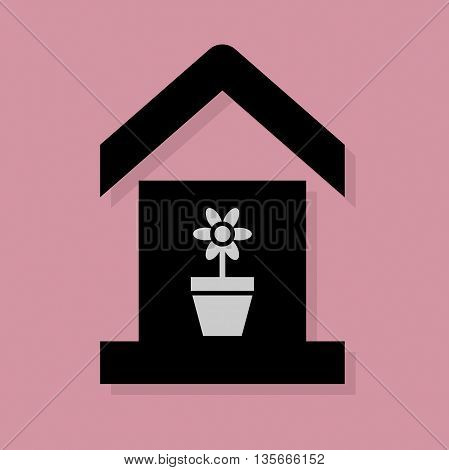 Abstract House service icon or sign, vector illustration