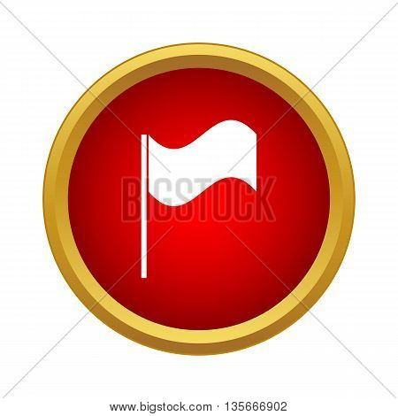 White flag icon in simple style isolated on white background