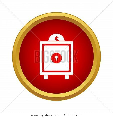 Safe icon in simple style isolated on white background