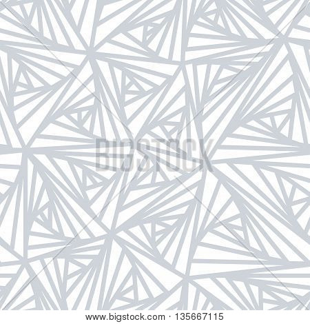 Abstract Geometric Light Vector Pattern. Modern seamless white and grey color sample pattern. Light line abstract background