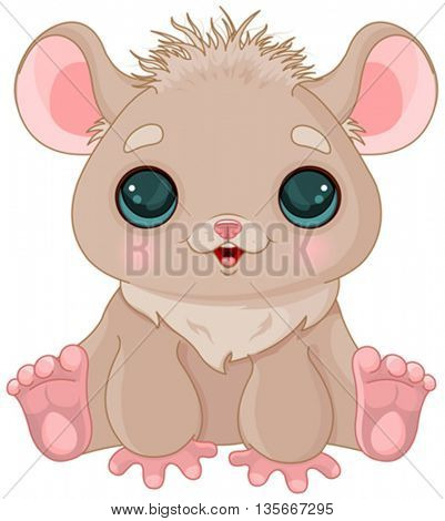 Illustration of very cute hamster