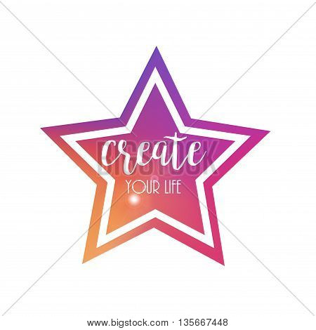 Colourful Star Frame.Vector Background Backdrop and Design Element for Your Design.