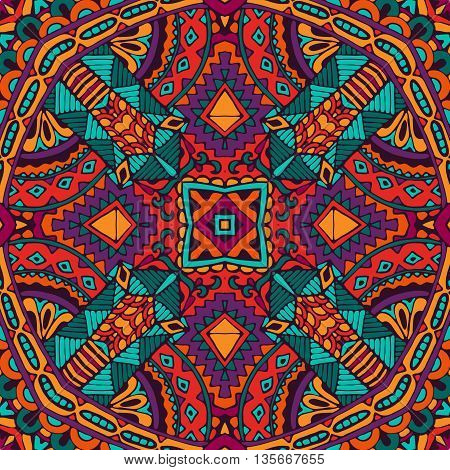 Abstract indian Tribal vintage ethnic seamless pattern ornamental