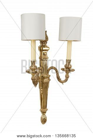 Luxury sconce wall lamp isolated isolated on white background