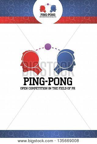 Logo Ping Pong, Logo PR, logo Feedback