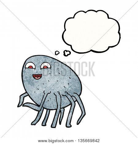 freehand drawn thought bubble textured cartoon tick