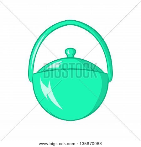 Bowler for food icon in cartoon style isolated on white background. Cooking symbol