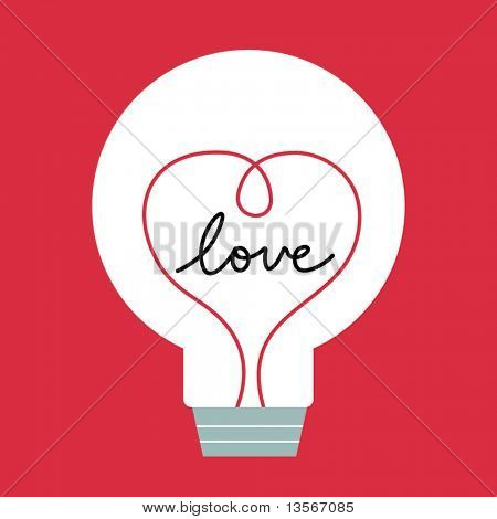 one bulb with love inside