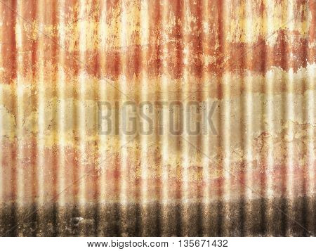 Corrugated sheet - rusty metal texture grunge