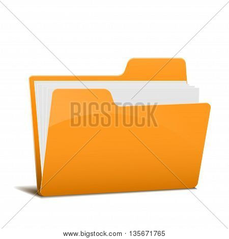 file folder isolated on a white background. vector illustration.