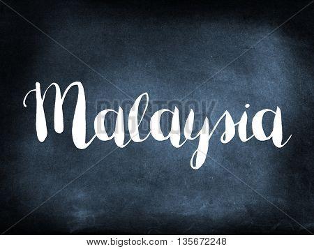 Malaysia written on a blackboard