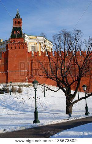 Moscow Kremlin. UNESCO World Heritage Site. Color photo.